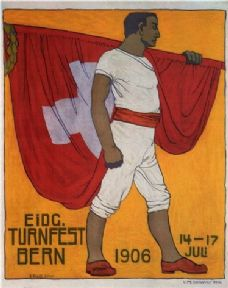 Vintage Swiss poster - National Gymnastic Festival 1906